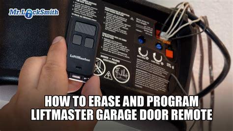 erase  program liftmaster garage door remote