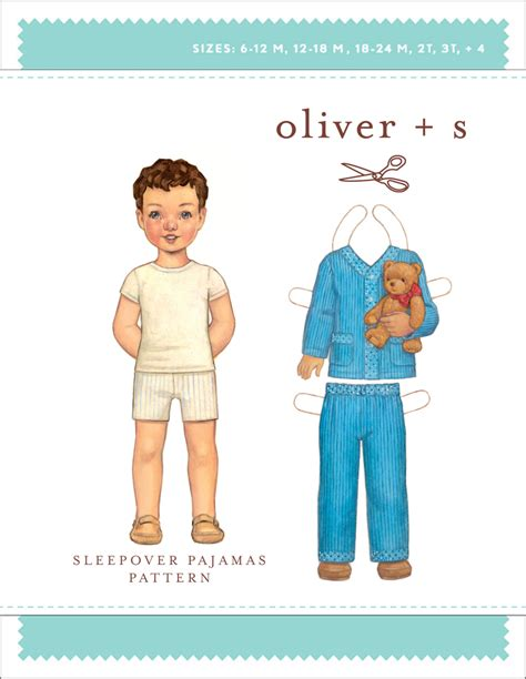 pattern review oliver s oliver s os029sl sleepover pajamas