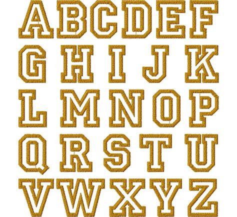 college font design college outline font embroidery font set