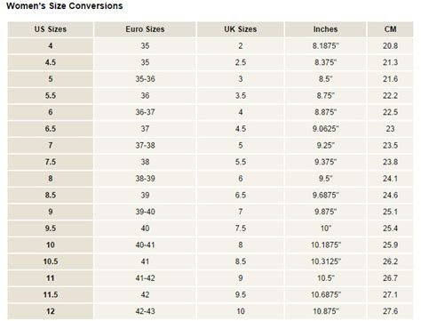 shoe conversion international shoe conversion chart search results