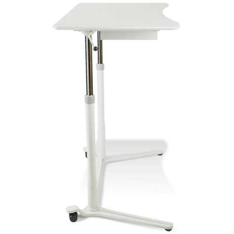 mobile sit stand desk mobile sit stand desk adjustable height white dcg