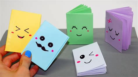How To Make Paper Notebook - diy kawaii notebook of 1 sheet of paper mini notebook of