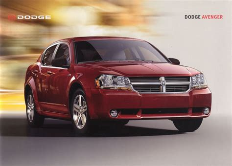 old car manuals online 2008 dodge avenger head up display 2008 dodge avenger brochure