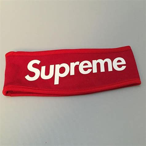ebay supreme new supreme streetwear hypebeast black red fleece headband