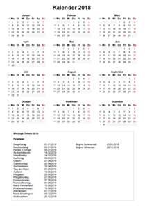 Kalender 2018 Mit Kalenderwochen Jahreskalender 2018 Mit Kalenderwochen Vorlage Muster Ch