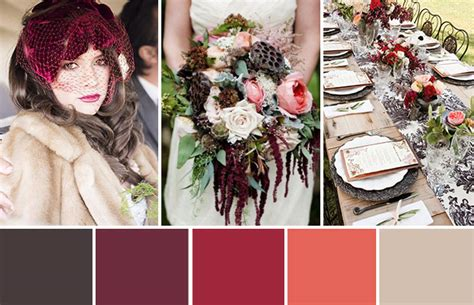 colour themes for christmas 2015 shades of the season 10 winter wedding colour palette