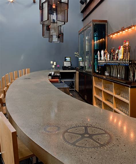 used bar tops concrete countertops decorative concrete bar tops