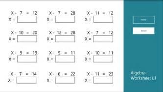 beginner algebra worksheets worksheet amp workbook site