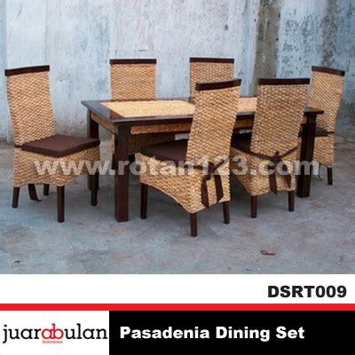 Set Meja Makan Rotan harga jual pasadenia dining set meja makan rotan alami model gambar