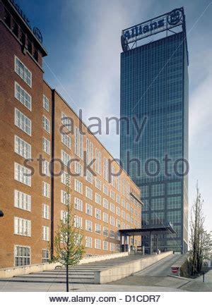 allianz house insurance allianz insurance companys treptowers in berlin germany stock photo royalty free