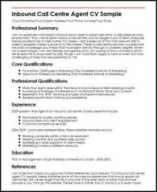 Inbound Call Center Sle Resume by Inbound Call Centre Cv Sle Myperfectcv