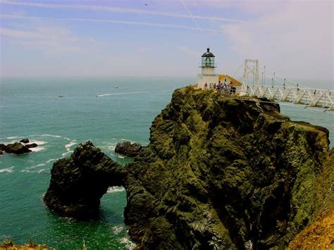 san francisco lighthouses map point bonita lighthouse san francisco golden gate by brad