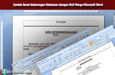 contoh surat keterangan kelulusan dengan mail merge