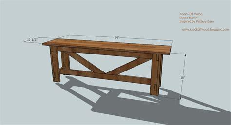 Simple Indoor Wood Bench Plans