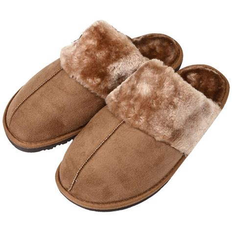 faux shearling slippers cosy slip on snuggs faux fur sheepskin mule