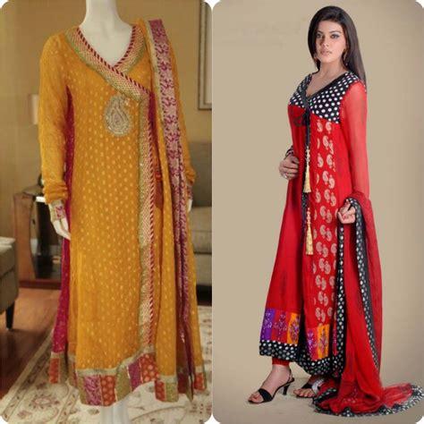 dress design new fashion stylish angrakha style frocks collection 2016 stylo planet