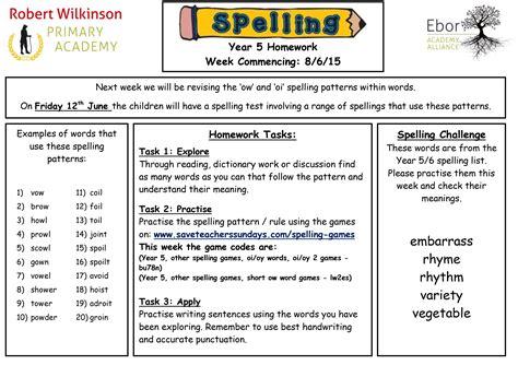 printable spelling games year 4 robert wilkinson primary academy 187 year 5 homework