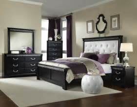 Black Bedroom Sets Standard Furniture Venetian Black 5 Piece Panel Bedroom