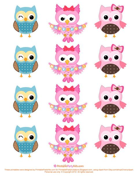 hello cupcake topper template free printable invitations owl cupcake toppers