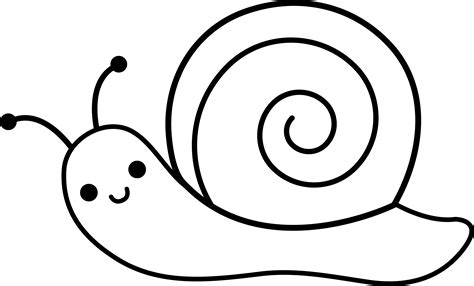 cute snail line art free clip art