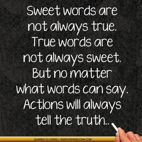 Size Does Not Always Matter by Sweet Words Are Not Always True True Words Are Not Always