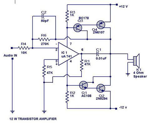 tda7265 lifier circuit diagram 12 watts transistor lifier circuit diagram electrical