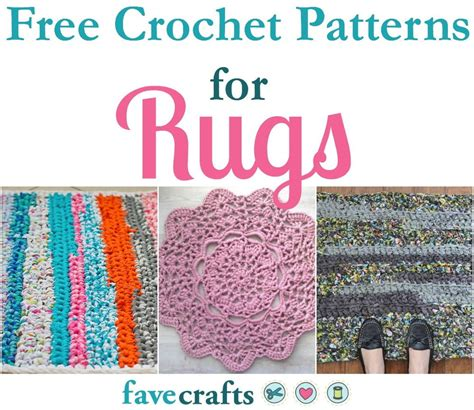 17 free crochet patterns for rugs favecrafts