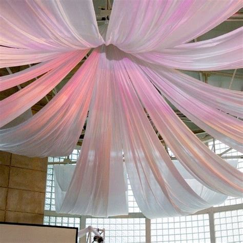 hanging fabric  ceiling ideas decorating  sheer