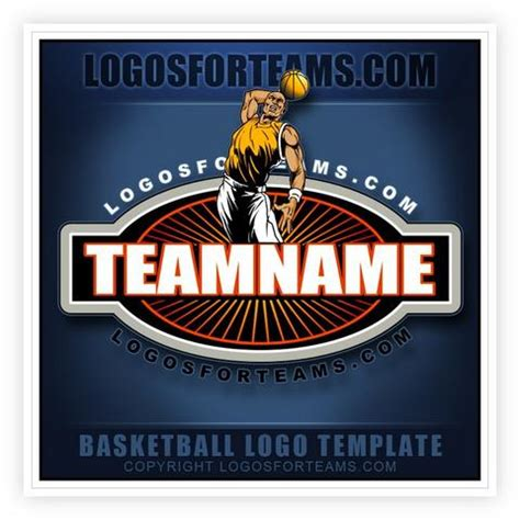 Basketball Logo Templates Logos For Teams Basketball Team Logo Template