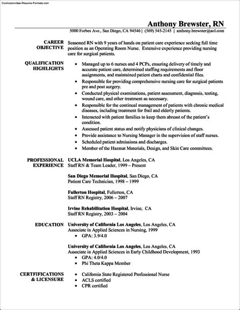 nurse resume samples registered nurse sample resume critical care