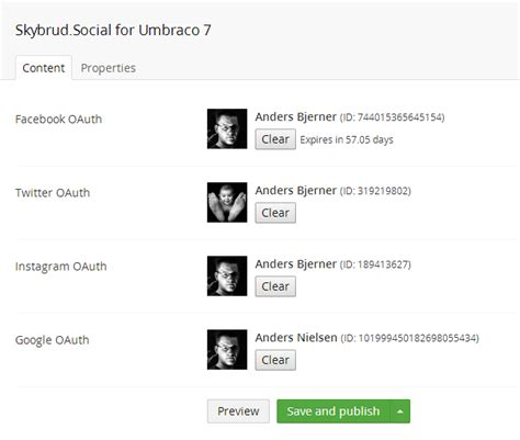 instagram oauth tutorial abjerner skybrud social umbraco package for the umbraco 7