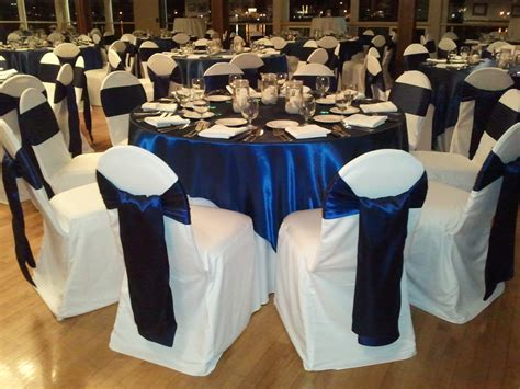 navy blue chair covers for weddings wedding linen rental themes for rental