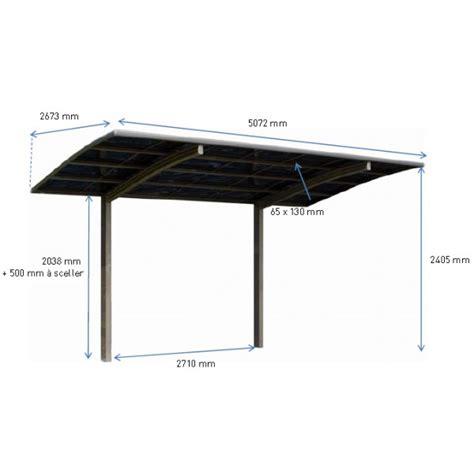Garage Pergola Designs carport en m 233 tal delta 5 07 x 2 67 m 13 54 m 178 votre