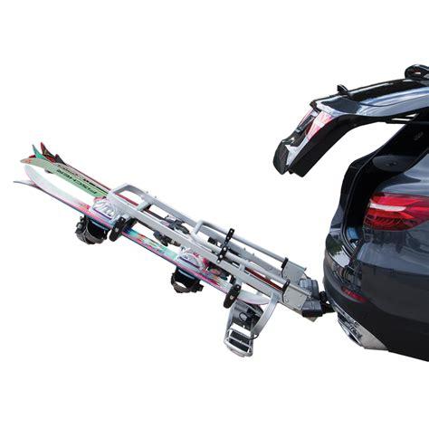 porta sci per auto portasci exclusiv ski board deluxe fabbri gancio traino