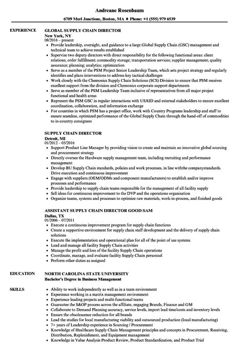 sle resume for managing director position director of supply chain description best chain 2018
