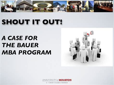 Uh Mba Program by Outside Consultant Uh Mba Marketing Presentation