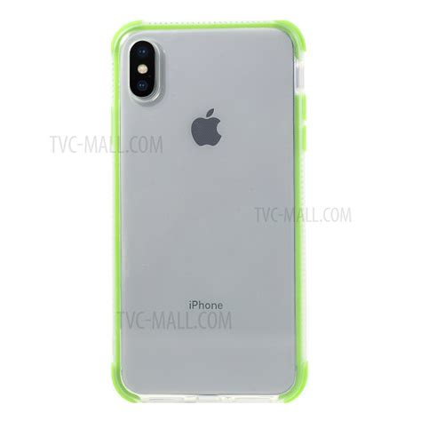 two colors shock proof tpu mobile phone shell for iphone xs max 6 5 inch green tvc mall