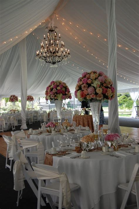 wedding tent love the chandelier not so much on the