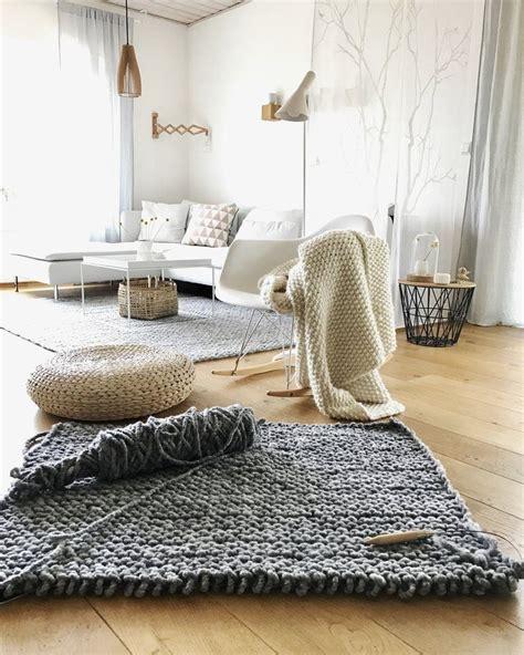teppiche selber stricken die besten 17 ideen zu gestrickter teppich auf
