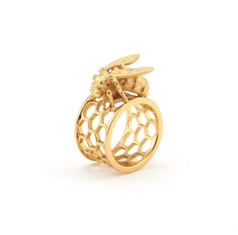 Rin Bee by Bee Honeycomb Ring Fashion Jewellery
