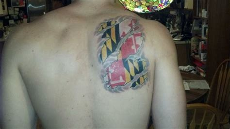 maryland flag tattoo md flag maryland tattoos
