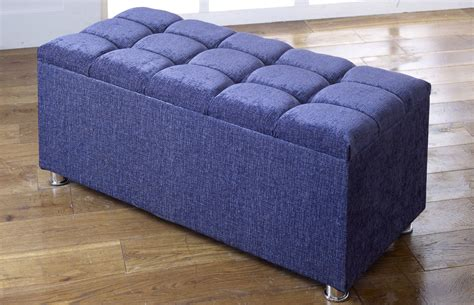 Chenille Ottoman New Ottoman Storage Blanket Box In Chenille