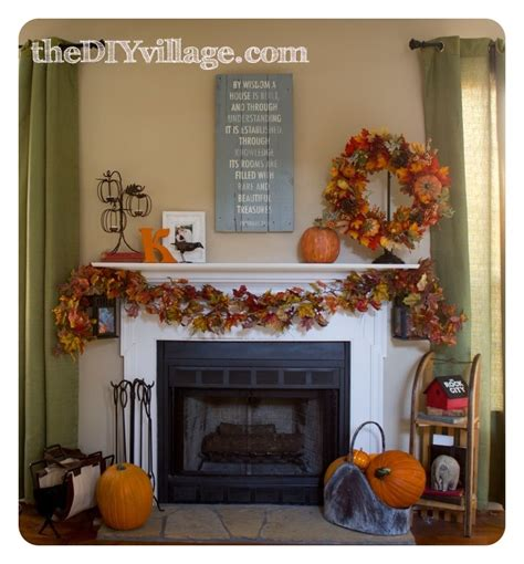 fall mantel decor fall mantel the diy
