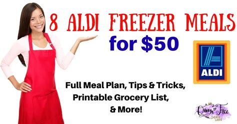 aldi printable shopping list 8 aldi freezer meals for 50 queen of free