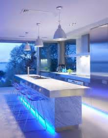 Led Lights In The Kitchen Ultra Modern Kitchen Design With Led Lighting Fixtures Iroonie