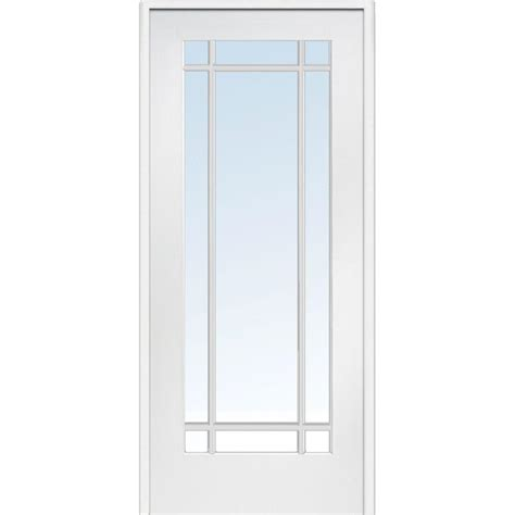 Prehung Interior Door With Glass Milliken Millwork 31 5 In X 81 75 In Classic Clear Glass 9 Lite Interior Door Z009310l