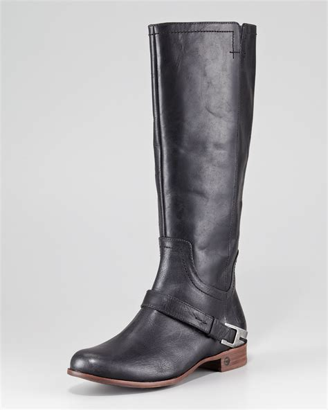 ugg leather boots ugg channing ii leather boot in brown chocolate