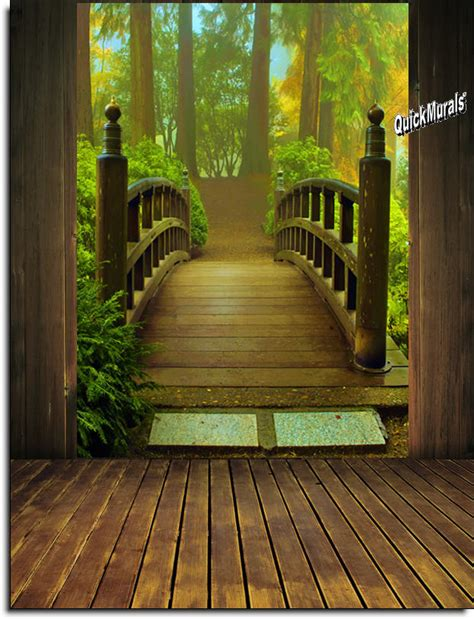 Enchanted Forest Wall Mural enchanted forest peel amp stick wall mural