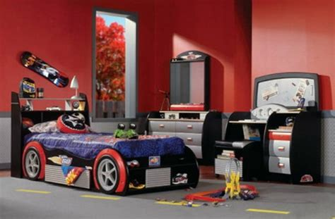race car bedroom sets cars kids beds decorating design