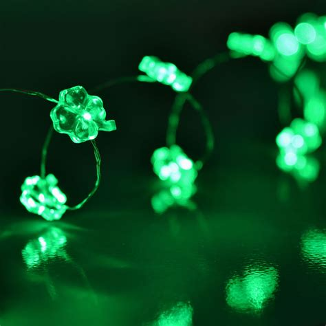 led string lights battery operated shamrock led micro string lights battery operated